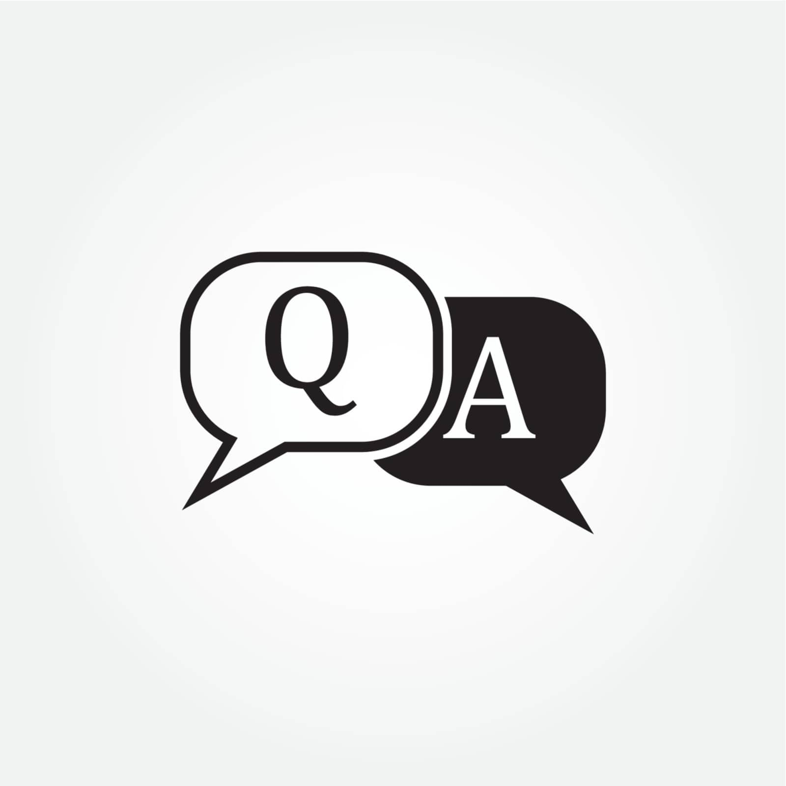 question answer icon design vector illustration